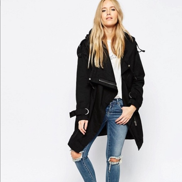 0cfa5bb6f598a ASOS Jackets   Blazers - ASOS Parka with Waterfall and Storm Flap size 4